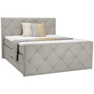 Ti`me POSTEL BOXSPRING, 180/200 cm, textil, šedá - šedá