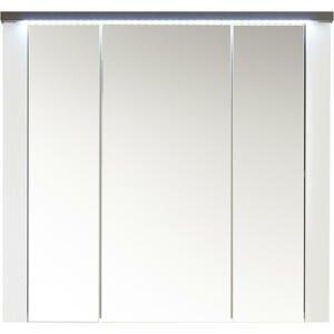 SKŘÍŇKA SE ZRCADLEM, hnědá, bílá, 80/75/20 cm