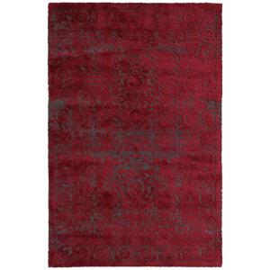 Novel VINTAGE KOBEREC, 130/190 cm, šedá, červená - šedá, červená