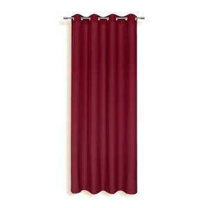 Ombra ZÁVĚS S KROUŽKY, neprůsvitné, 140/245 cm - červená