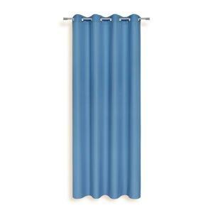 Ombra ZÁVĚS S KROUŽKY, neprůsvitné, 140/245 cm - modrá
