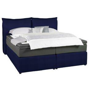 Welnova POSTEL BOXSPRING, 160/200 cm, textil, antracitová, modrá - antracitová, modrá