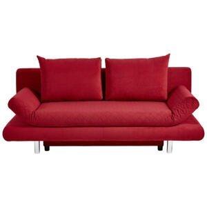 Xora ROZKLÁDACÍ POHOVKA, textil, červená - červená