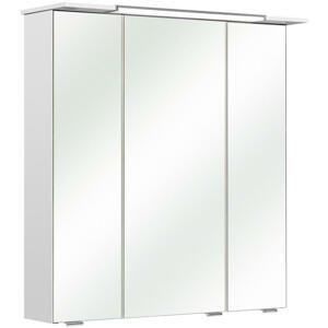 Xora SKŘÍŇKA SE ZRCADLEM, bílá, 67/71/23,5 cm