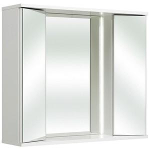 Xora SKŘÍŇKA SE ZRCADLEM, bílá, 80/70/20 cm