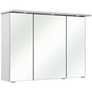 Xora SKŘÍŇKA SE ZRCADLEM, bílá, 96/70/18 cm