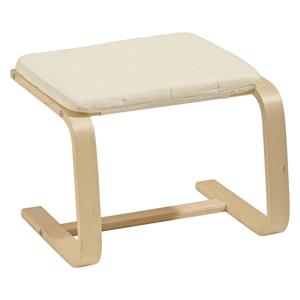 Carryhome TABURET, dřevo, textil, 51/36/45 cm - krémová
