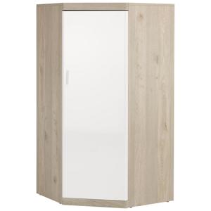 Xora ROHOVÁ SKŘÍŇ, bílá, barvy dubu, 73/139/73 cm - bílá, barvy dubu