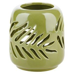 Ambia Home STOJAN NA SVÍČKU, keramika - zelená