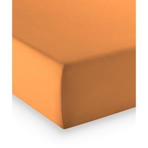 Fleuresse ELASTICKÉ PROSTĚRADLO, oranžová, 100/200 cm - oranžová