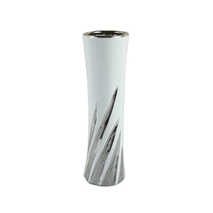 Ambia Home VÁZA, barvy stříbra, bílá - barvy stříbra, bílá