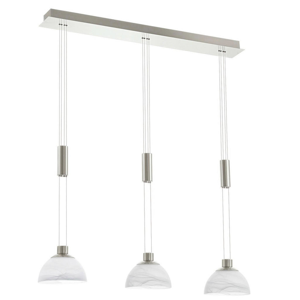 LED ZÁVĚSNÉ SVÍTIDLO - bílá, barvy niklu