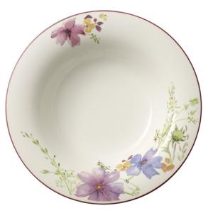 Villeroy & Boch TALÍŘ NA POLÉVKU, keramika, 23 cm - zelená, fialová, růžová, bílá