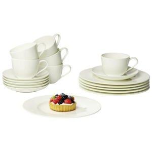Villeroy & Boch SADA NA KÁVU, 18dílné, porcelán (new bone china) - bílá