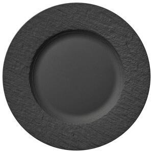 Villeroy & Boch TALÍŘ NA SNÍDANI, keramika, 22 cm - černá