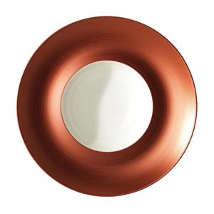 Villeroy & Boch TALÍŘ NA POLÉVKU, keramika, 29 cm - oranžová, bílá