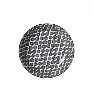 Ritzenhoff Breker TALÍŘ NA POLÉVKU, keramika, 20,5 cm - černá, bílá