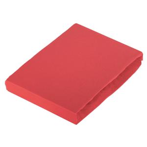 Novel PROSTĚRADLO NA BOXSPRING, žerzej, červená, 140/200 cm - červená