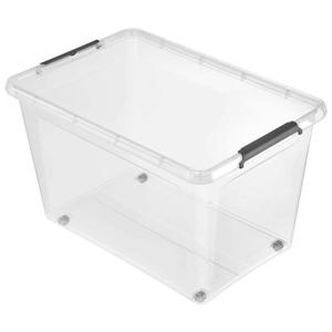 Homeware BOX S VÍKEM, 60 l - průhledné