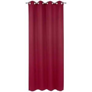 Esposa ZÁVĚS S KROUŽKY, zatemnění, 140/245 cm - vínově červená