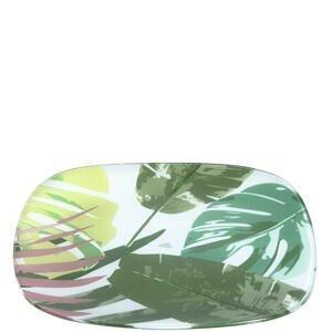 Leonardo TALÍŘ, sklo, 26 cm - zelená, bílá