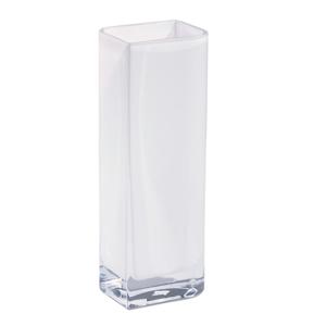 Leonardo VÁZA, sklo, 30 cm - bílá