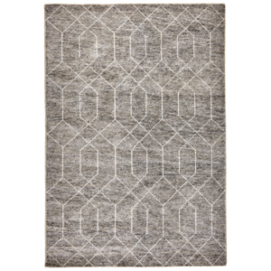 Linea Natura RUČNĚ TKANÝ KOBEREC, 160/230 cm, šedá - šedá