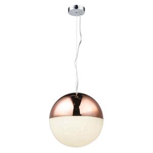 LED ZÁVĚSNÉ SVÍTIDLO, 28/125 cm - čiré, měděné barvy