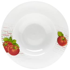 Homeware TALÍŘ NA PASTU, porcelán - zelená, červená, bílá