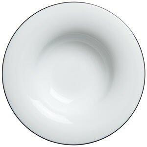 Novel TALÍŘ NA TĚSTOVINY, keramika, 27,5 cm - černá, bílá