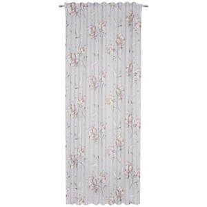 Esposa HOTOVÝ ZÁVĚS, průhledné, 135/245 cm - šedá, pink