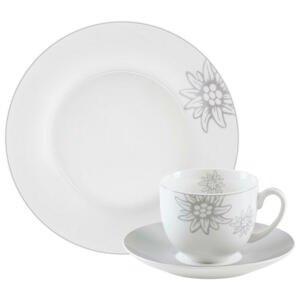 Landscape SERVIS KÁVOVÝ, 18dílné, porcelán (new bone china) - šedá, bílá