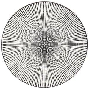 Novel MĚLKÝ TALÍŘ, keramika, 26,5 cm - černá, bílá