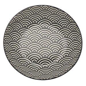 Novel HLUBOKÝ TALÍŘ, keramika, 20,3 cm - černá, bílá