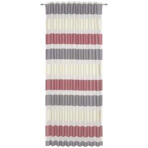 Esposa HOTOVÝ ZÁVĚS, neprůsvitné, 140/245 cm - červená, barvy stříbra