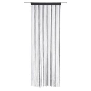 Boxxx PROVÁZKOVÁ ZÁCLONA, 90/245 cm, černá, barvy stříbra, bílá - černá, barvy stříbra, bílá