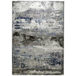 Novel TKANÝ KOBEREC, 160/230 cm, modrá, barvy stříbra - modrá, barvy stříbra