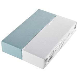 Esposa DĚTSKÉ PROSTĚRADLO, 60-70/120-140 cm, bílá, světle modrá
