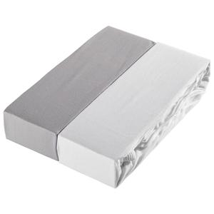 Esposa DĚTSKÉ PROSTĚRADLO, 60-70/120-140 cm, bílá, světle šedá