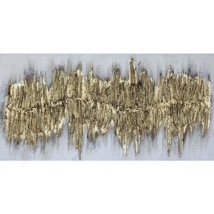 Monee OLEJOMALBA, struktury, 60/120 cm - barvy zlata