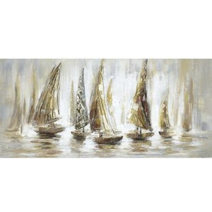 Monee OLEJOMALBA, pláž & moře, 150/70 cm - hnědá, bílá, béžová
