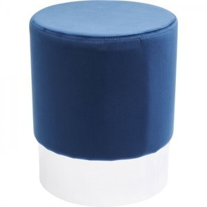 Modrá stolička Cherry - sokl stříbrný