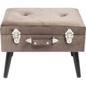 Šedá stolička s úložným prostorem Suitcase