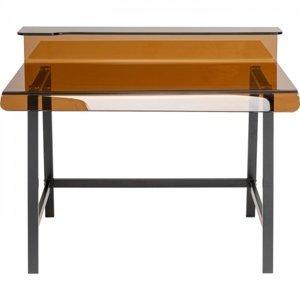 Stůl Visible - jantarový, 110x56cm