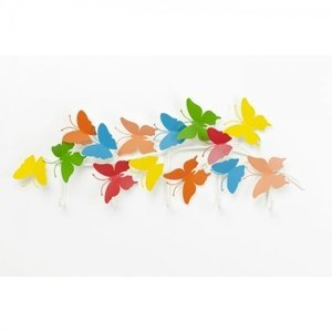 Barevný věšák na zeď Butterflies