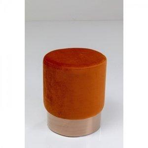 Tmavě oranžová stolička Cherry - sokl měď