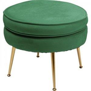 Zelená čalouněná stolička Water Lily