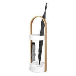 Stojan na deštníky Umbra BELLWOOD - bílý/přírodní