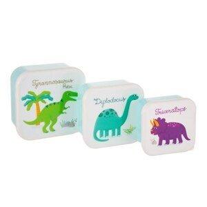 Boxy na svačinu 3 ks Sass & Belle Dinosaurs