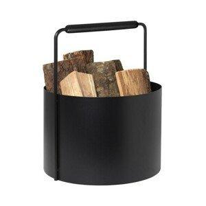 Koš na drevo Blomus ASHI - černý